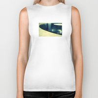 record Biker Tanks featuring Record by Derek Fleener