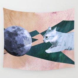 Orbital Cat Travel Wall Tapestry