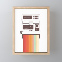 Instant Camera Rainbow Framed Mini Art Print