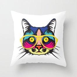 Smart Cat ! Throw Pillow