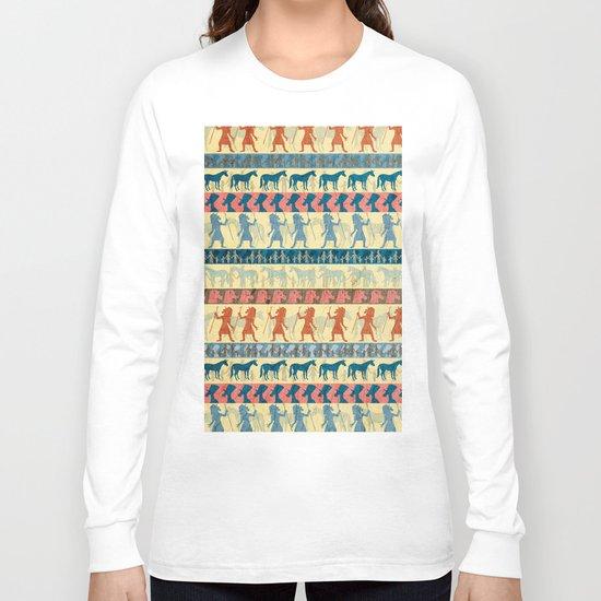 Egyptian Unicorn Pattern Long Sleeve T-shirt