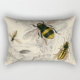 Naturalist Bee And Wasps Rectangular Pillow
