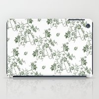 penis iPad Cases featuring Penis Pattern GREEN by Daniel McLaren