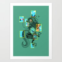 the national Art Prints featuring National Animalgraphics by Anwar Rafiee