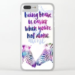 Zebra strong Clear iPhone Case