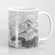 Child on the rock - Black ink Mug