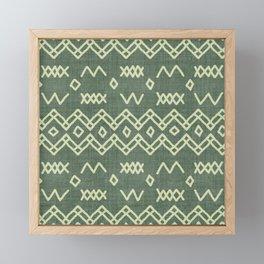 Farrah in Green Framed Mini Art Print