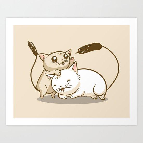 CatTails! Art Print
