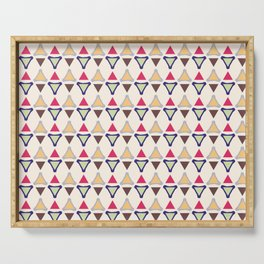 Colourful Triangles Serving Tray