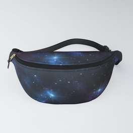 Galaxy sky space of planet earth with stars and meteors graphic design.  Fanny Pack