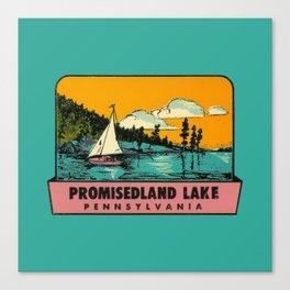 Vintage Retro Camping Promisedland Wanderlust Canvas Print