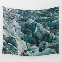 alaska Wall Tapestries featuring Alaska Glacier by Andy Barron