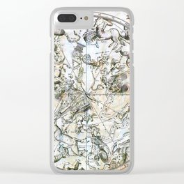 Hevelius' Prodomus Astronomia - Southern Celestial Hemisphere 1690 Clear iPhone Case