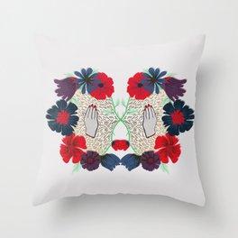 Flowerface pt. 2 Throw Pillow