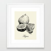 fig Framed Art Prints featuring Fig by Benoit Springer