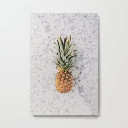 MARBLE with PINEAPPLE Metal Print