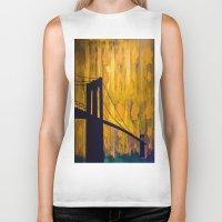 brooklyn bridge Biker Tanks featuring Brooklyn Bridge by KINGCHANCE