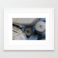 wooden Framed Art Prints featuring Wooden by Tania Olby