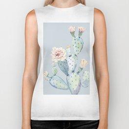 Prettiest Rose Cactus Blue Biker Tank