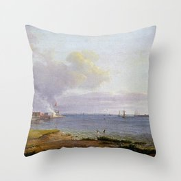 Johan Christian Dahl View over Øresund Throw Pillow