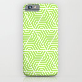 Inchworm - green - Geometric Seamless Triangles Pattern iPhone Case