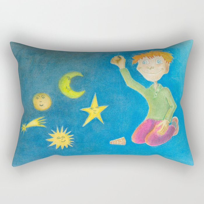 Child playing with his toys Rectangular Pillow
