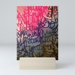 Scripted Mini Art Print