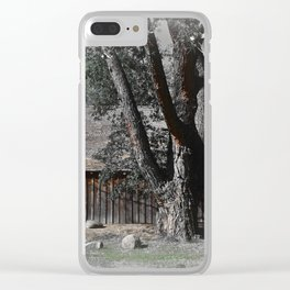 Rustic Barn Clear iPhone Case