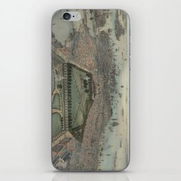 Vintage Pictorial Map of Boston MA (1850) iPhone Skin