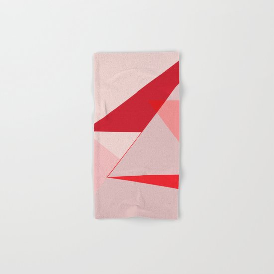 Geometric pink 02 Hand & Bath Towel