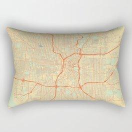 San Antonio Map Retro Rectangular Pillow