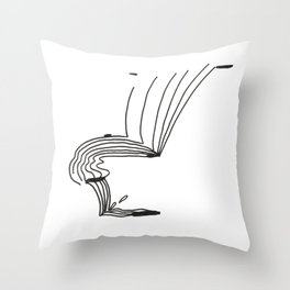 Lines That Fall Throw Pillow