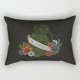 Pin the Grenade (BLACK) Rectangular Pillow