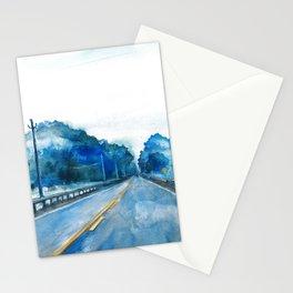Misty Highway Stationery Cards