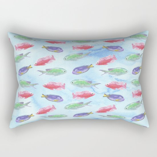Tropical Fish Rectangular Pillow