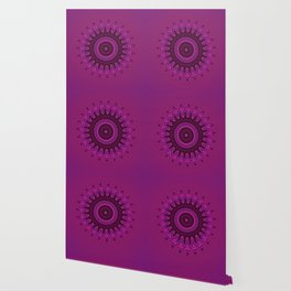 Deep purple mandala Wallpaper
