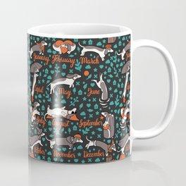 Dachshund year - lettering pattern Coffee Mug