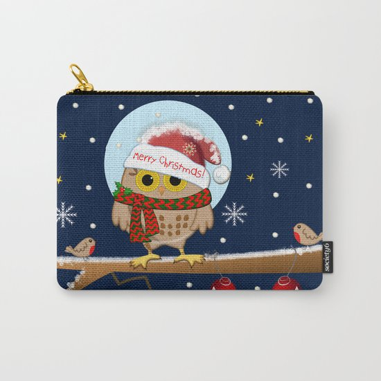 Owl's Christmas in a snowy world Carry-All Pouch