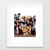 fairy tail Framed Art Prints featuring Fairy Tail 8th Anniversary by Minty Cocoa