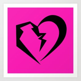 Hot Pink Heartbreak Art Print