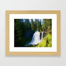 Gushing Waterfall Framed Art Print