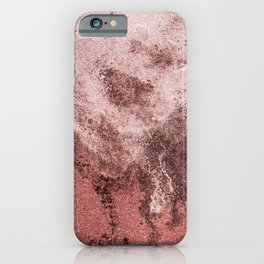 marsala and pink iPhone Case