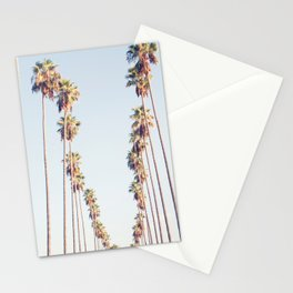 Palm tree stripes Stationery Cards