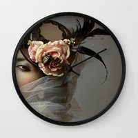 hat Wall Clocks featuring hat by Cunene