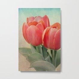 Vintage tulips 4 Metal Print