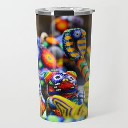 Colorful Mexican Alebrije Art Travel Mug