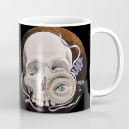 Stillife with skull, lavender and lovers eye Coffee Mug