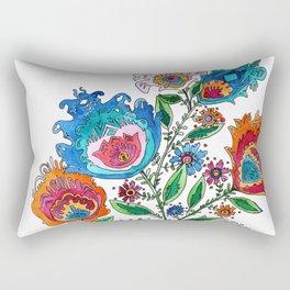 Folkart Bouquet Rectangular Pillow