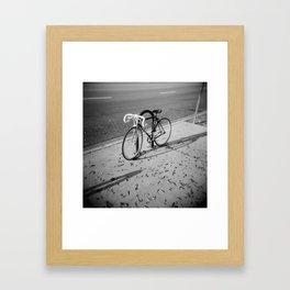Bike on Holga Framed Art Print