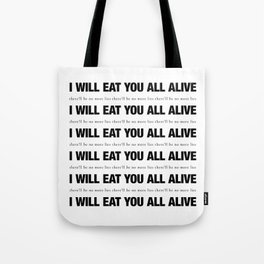 There'll Be No More Lies (white) Tote Bag